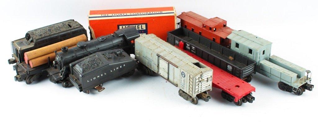LOT OF POSTWAR LIONEL MODEL TRAINS