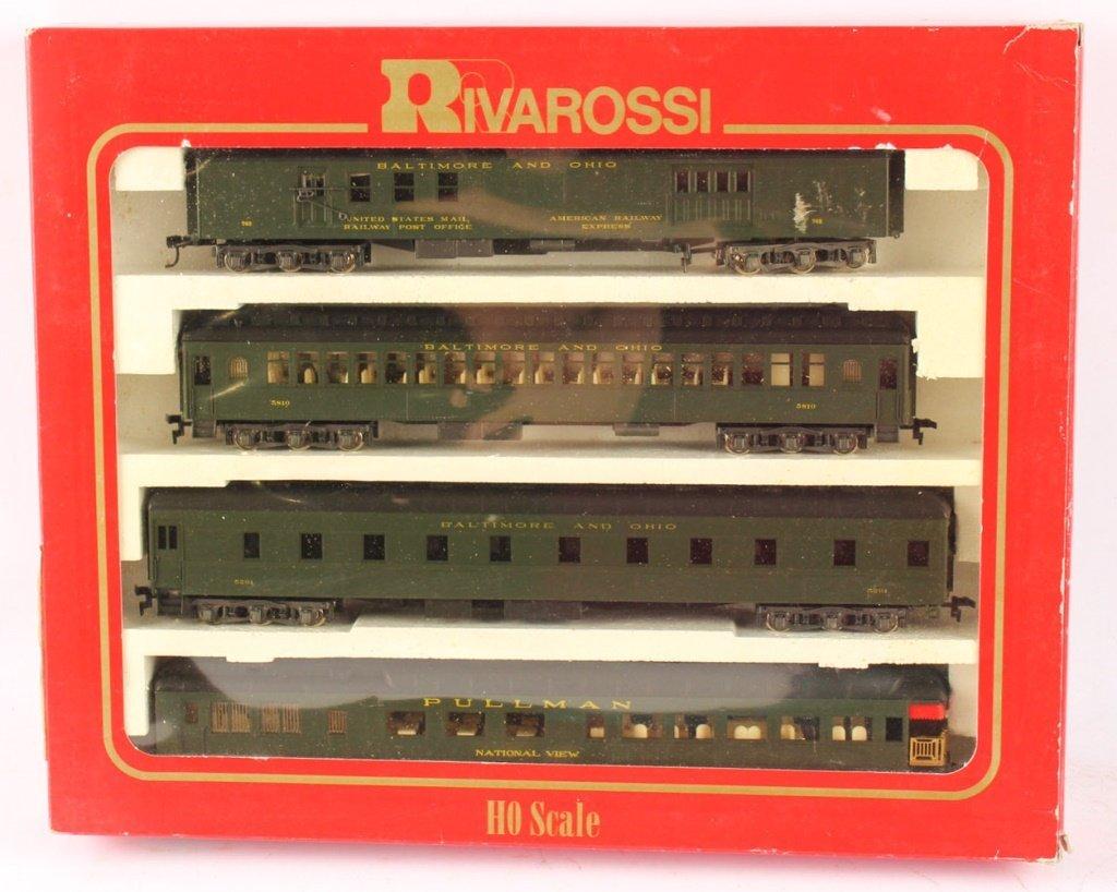 SET OF FOUR RIVAROSSI TRAINS PASSENGER CARS