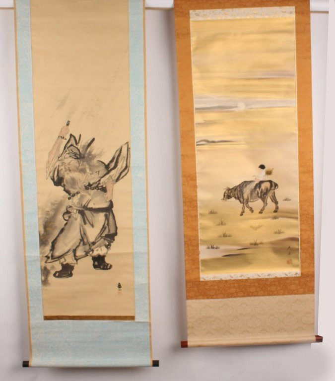 TWO ASIAN WALL SCROLLS