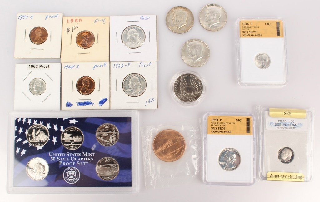 LARGE MIXED LOT OF U.S. SILVER & CLAD COINS ETC.