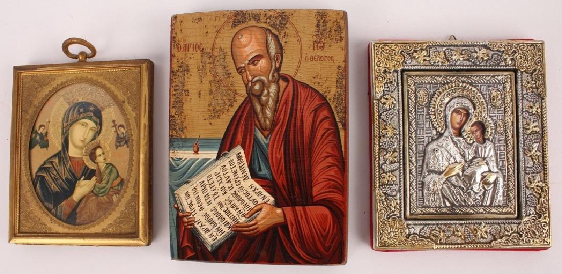 3 DECORATIVE RELIGIOUS ICONS
