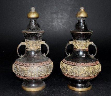 Antique Bronze Chinese Vases