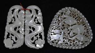 Two Chinese Carved Jade Articles