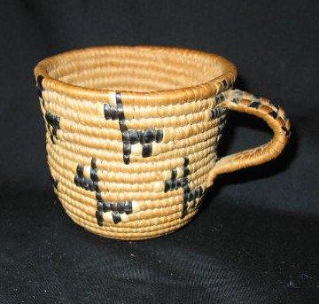 4: FANCY COILED CEDAR ROOT TEA CUP
