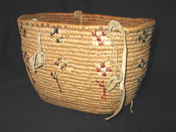 9: INDIAN BERRY BASKET - LILLOOET OR CHILCOTIN