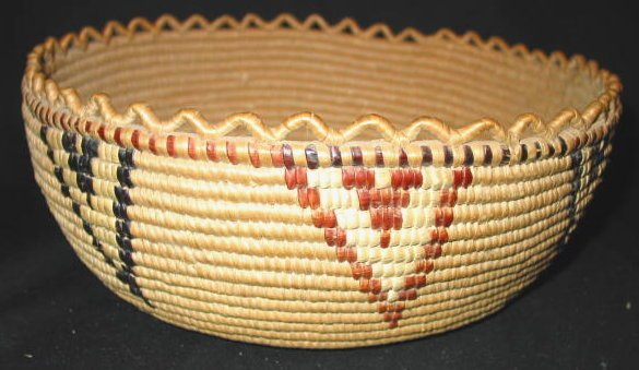 11: THOMPSON RIVER  COILED CEDAR ROOT BASKET
