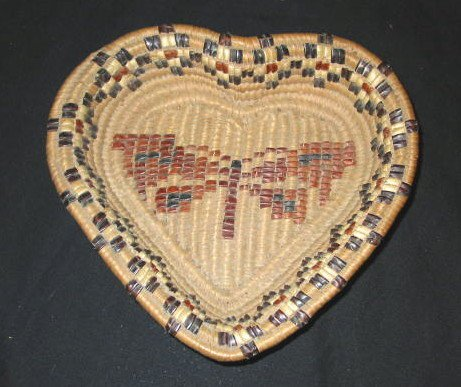27: CEDAR ROOT HEART SHAPED TRAY WITH BUTTERFLY