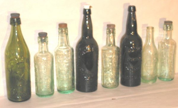 127: COLLECTION OF 8 OLD BRITISH COLUMBIA BOTTLES