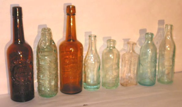 129A: EIGHT OLD AMERICAN BOTTLES
