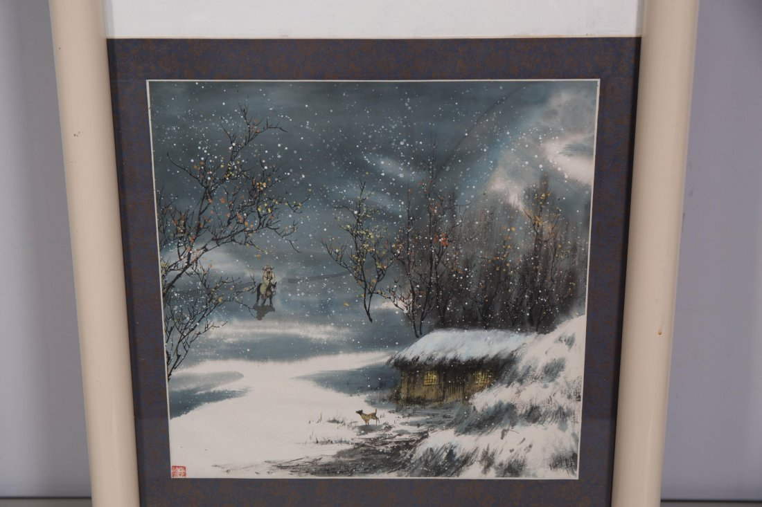 CHINESE MODERN PAINTING OF NATURAL SCENE - 4