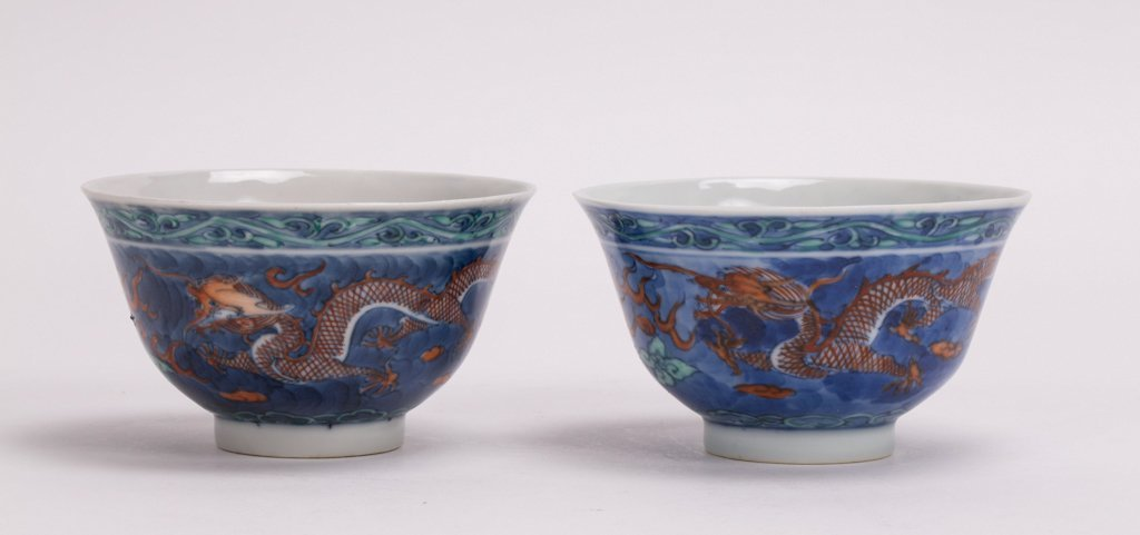 A PAIR OF CHINESE DOUCAI PORCELAIN BOWL