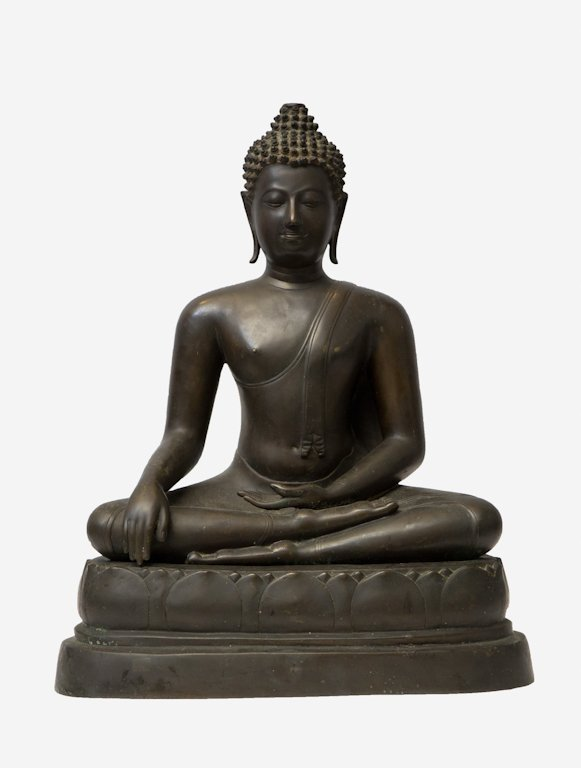 IMPORTANT THAI SEATED BRONZE BUDDHA