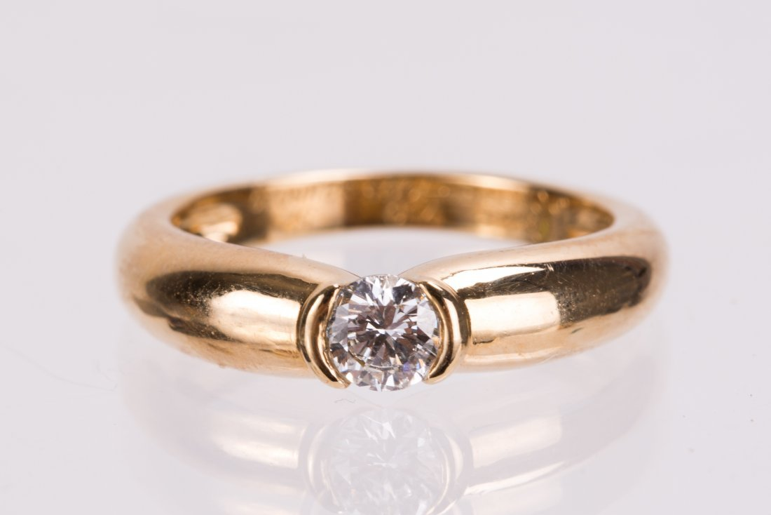 CARTIER 18K YELLOW GOLD DIAMOND RING