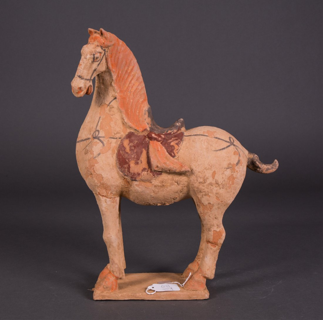 OLD CHINESE POTTERY HORSE
