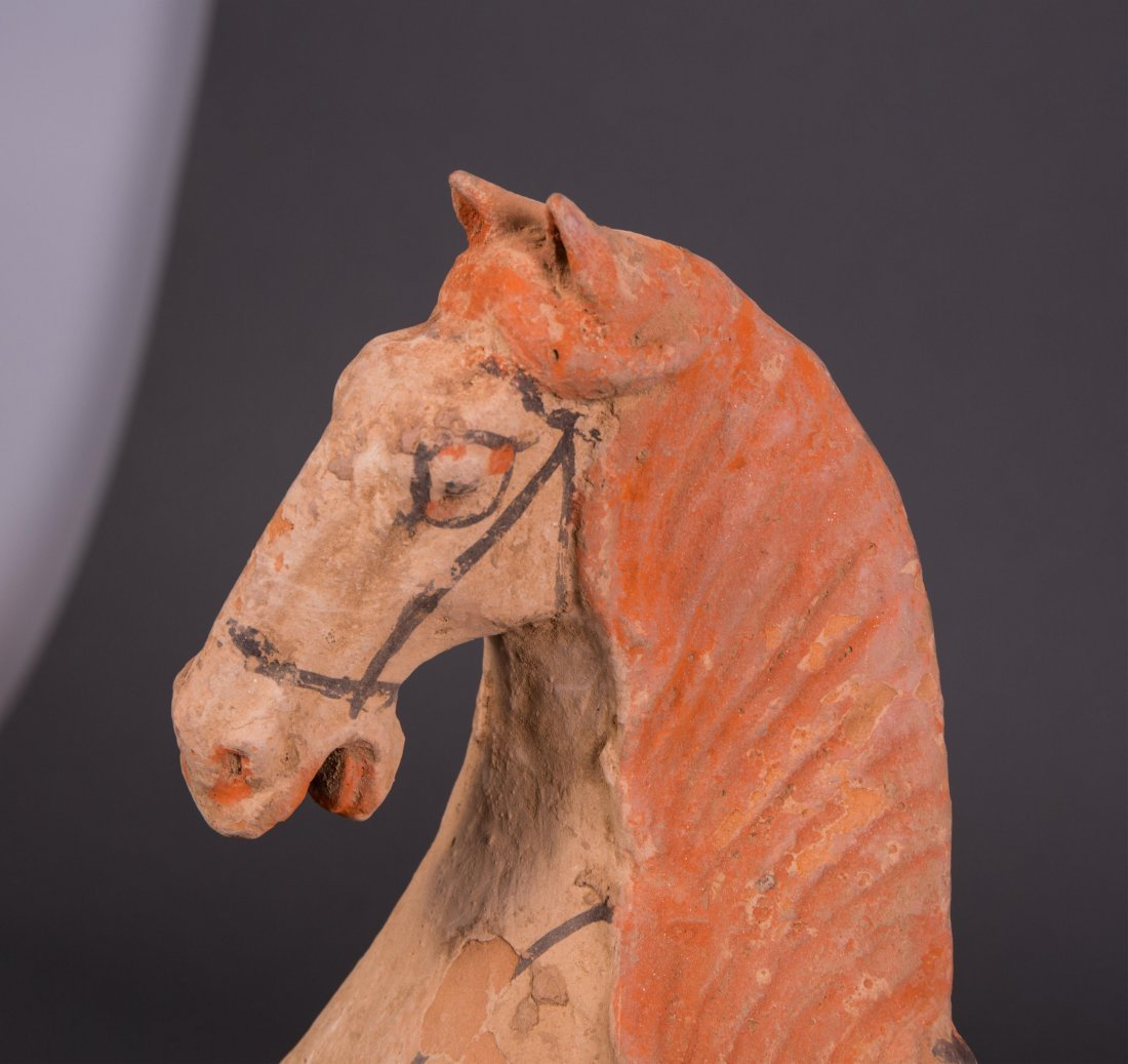 OLD CHINESE POTTERY HORSE - 2