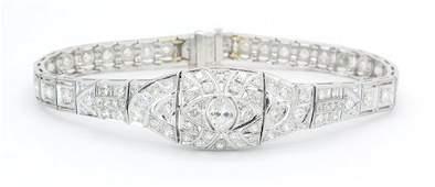 MAGNIFICENT DAZZLING DIAMOND AND PLATINUM BRACELET