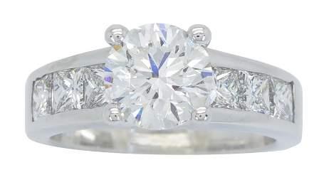 CERTIFIED 2.72CTW IDEAL CUT DIAMOND RING