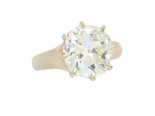 EXTRAORDINARY RARE 3.60CT DIAMOND SOLITAIRE RING