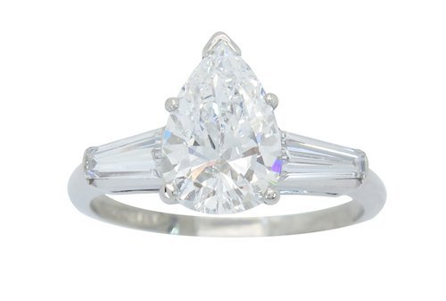 ASTONISHING GIA CERTIFIED D COLOR 2.86CTW DIAMOND RING