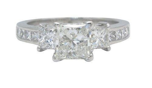 PLATINUM 1.84CTW DIAMOND RING