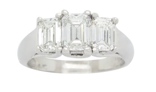 BRILLIANT 1.75CTW VS DIAMOND PAST, PRESENT, FUTURE RING