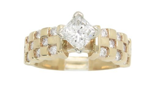 CUSTOM DESIGN 1.50CTW DIAMOND RING WITH PRESTINE DETAIL
