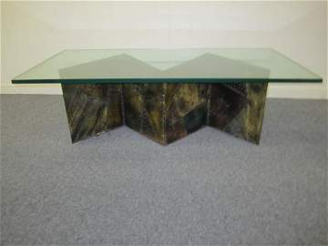 Paul Evans Welded Zigzag Shaped Coffee Table