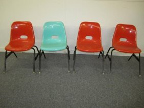 Set 4 Eames Style Mid-century Childrens Shell Chairs