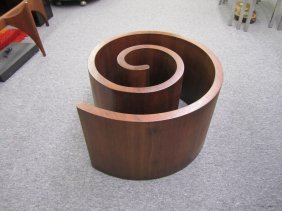 Fabulous Vladimir Kagan Walnut Snail Coffee Table