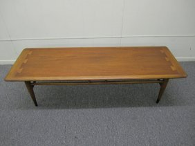 Mid-century Lane Acclaim Series Dovetail Coffee Table