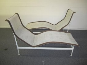 Pair Patio Chaises By Richard Schultz For Knoll
