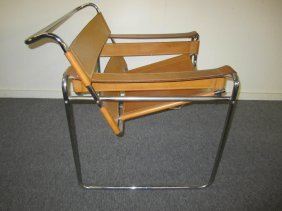 Vintage Marcel Breuer Wassily Buckskin Leather Chair