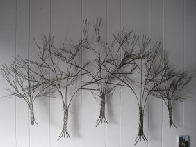 Signed C.jere Trees Wall Sculpture