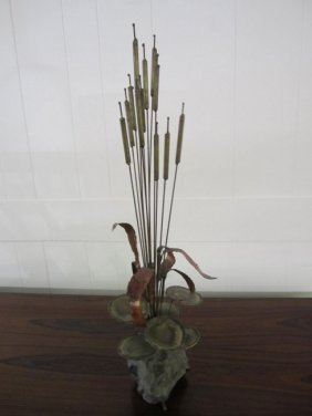 C.jere Style Son-ambient Cattails Table Sculpture