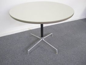 Signed Herman Miller Round Dining Table