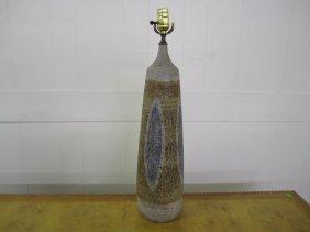 Danish Modern Salt Glaze Lamp
