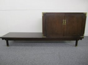 Asian Ispired Long Low Bench With Chest By Drexel