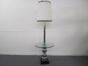 Mid-century Modern Chome Bubble Lamp Table