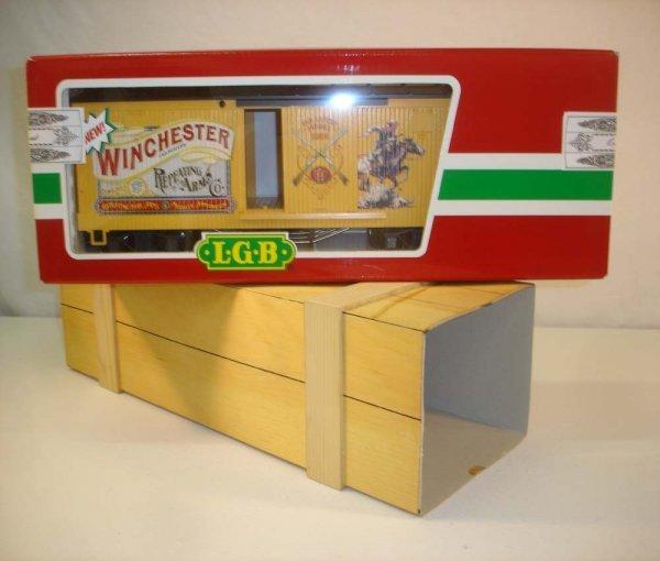 276: ABT: LGB #47670 Winchester Box Car/Wooden Box