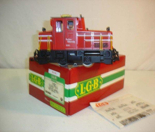 281: ABT: LGB #2061 Red/White Fo-Diesellok/Brick OB