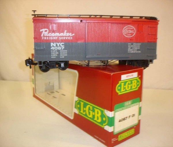 282: ABT: LGB #4087 F 01 NYC Box Car/Brick OB