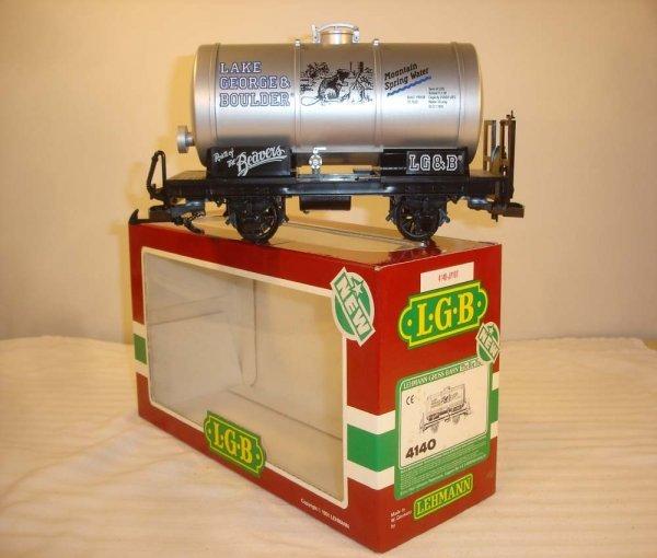 284: ABT: LGB #4140 Silver LG&BS Water Tank Car/OB