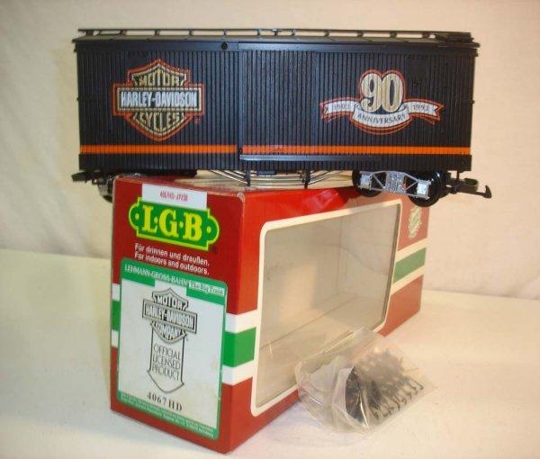 286: ABT: LGB #4067 HD Harley-Davidson Box Car/OB