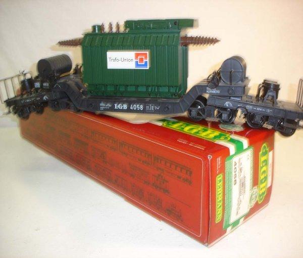 287: ABT: LGB #4058 Depressed Center Transformer/OB