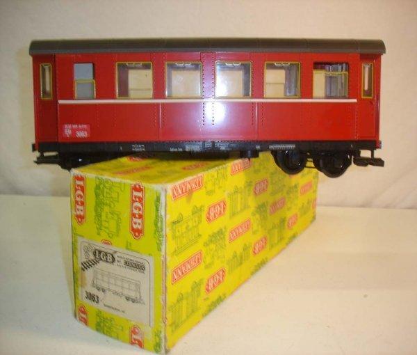288: ABT: LGB #3063 Red European Coach/Yellow OB