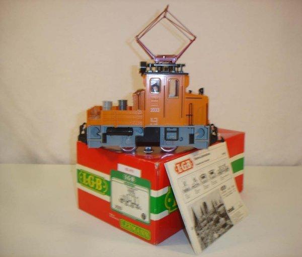289: ABT: LGB #2033 Gray/Tan Electric Loco/Brick OB