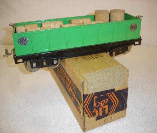 12: ABT: Lionel #212 Green Nickel Gondola/Brick OB