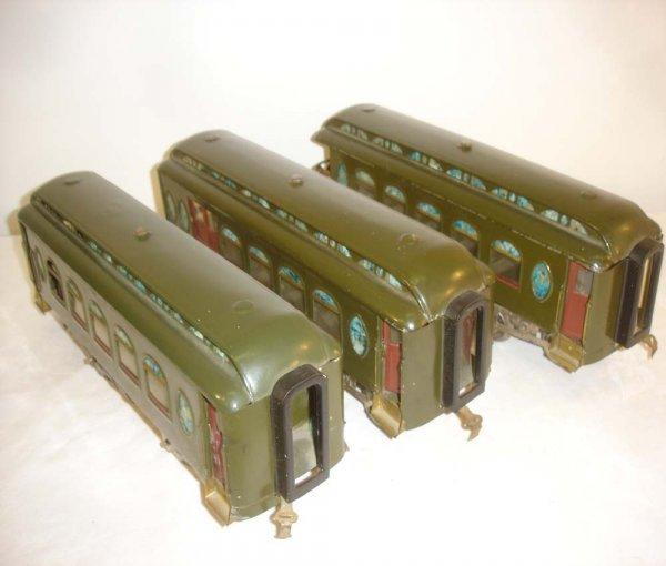 15: ABT: Lionel #18/19/190 Dark Green Passenger Cars