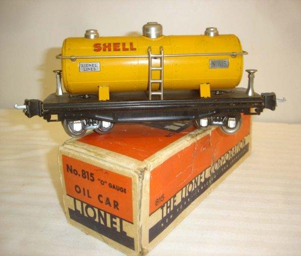 24: ABT: Scarce Lionel #815 Orange Shell Tank Car/OB