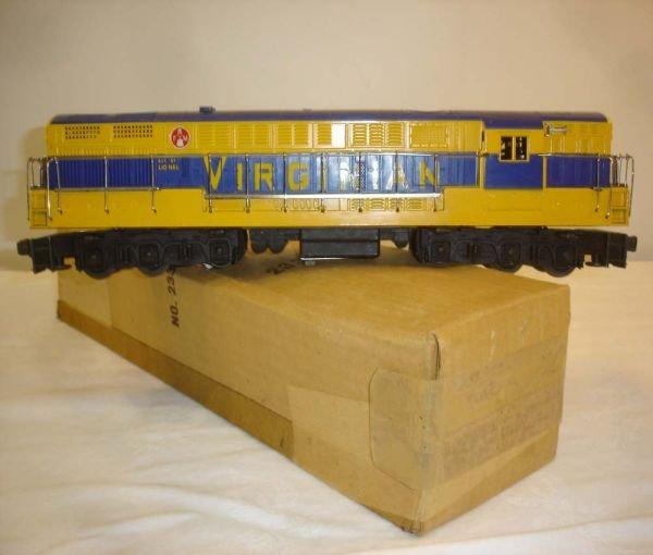 261: ABT: Lionel #2331 Blue & Yellow Virginian FM/OB